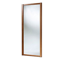 Shaker Full Length Mirror Walnut Effect Sliding Wardrobe