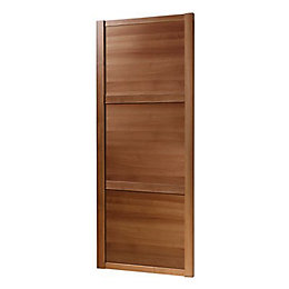 Shaker Walnut Effect Sliding Wardrobe Door (H)2220 mm