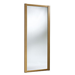 Shaker Full Length Mirror Oak Effect Sliding Wardrobe