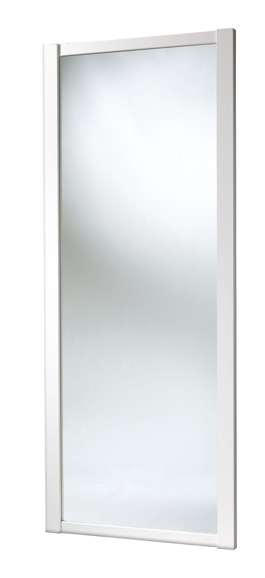 Shaker Full Length Mirror White Sliding Wardrobe Door (h)2220 Mm (w)610mm
