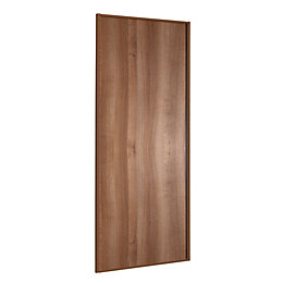 Panel Walnut Effect Sliding Wardrobe Door (H)2220 mm