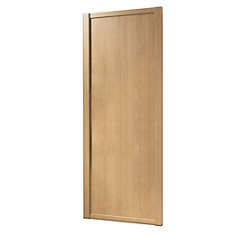 Shaker Oak Effect Sliding Wardrobe Door (H)2220 mm