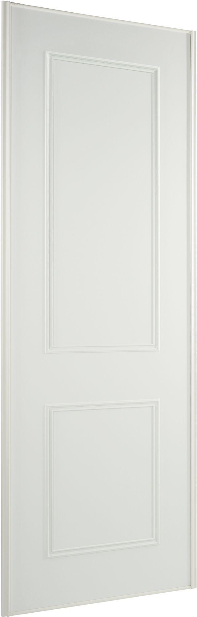 panel white wood effect sliding wardrobe door h 2220 mm. Black Bedroom Furniture Sets. Home Design Ideas