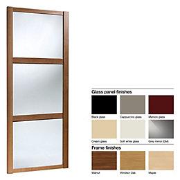 Made to Measure Shaker 3 Panel Glass/ Glass/