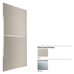 Made to Measure Minimalist 2 Panel Linen Effect