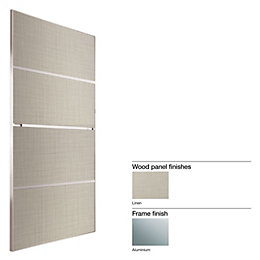 Made to Measure Minimalist 4 Panel Linen Effect