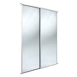 Classic Mirrored Sliding Wardrobe Door Kit (H)2220 mm