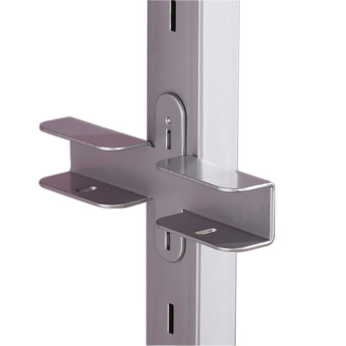 spacepro aura silver chrome effect steel wardrobe shelf bracket h27mm w150mm d83mm departments diy at bu0026q