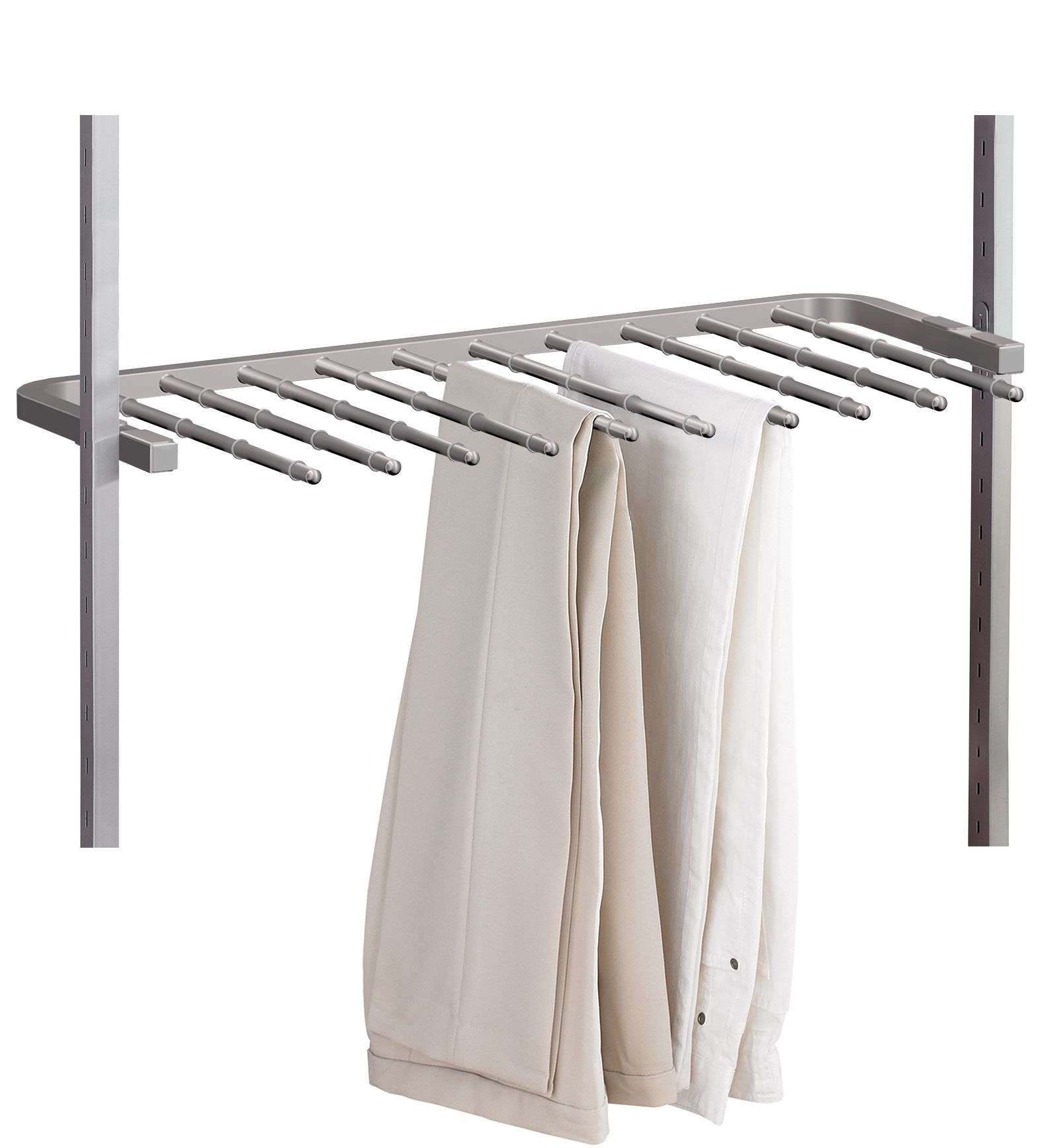 spacepro aura silver trouser rack w 900mm departments. Black Bedroom Furniture Sets. Home Design Ideas