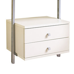 Spacepro Aura White Small Drawer Kit (W)550mm