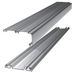 Standard Small Silver Wardrobe Sliding Door Track (L)1.803m