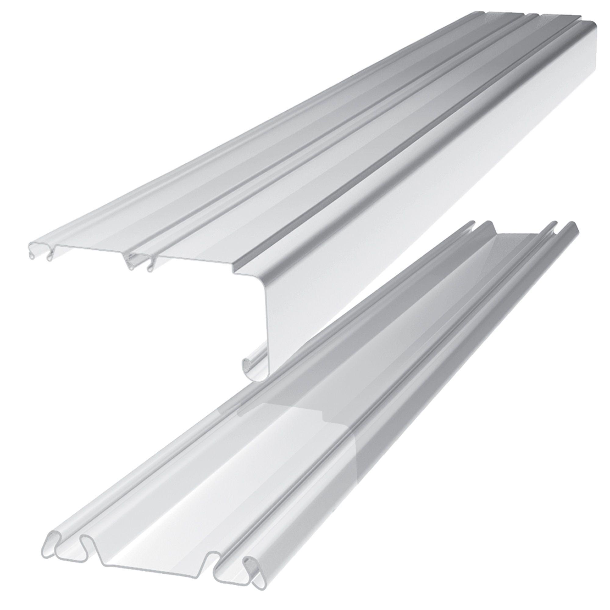 Standard small silver wardrobe sliding door track l 1 for Sliding door rail