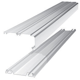 Standard Medium White Wardrobe Sliding Door Track (L)2.692m