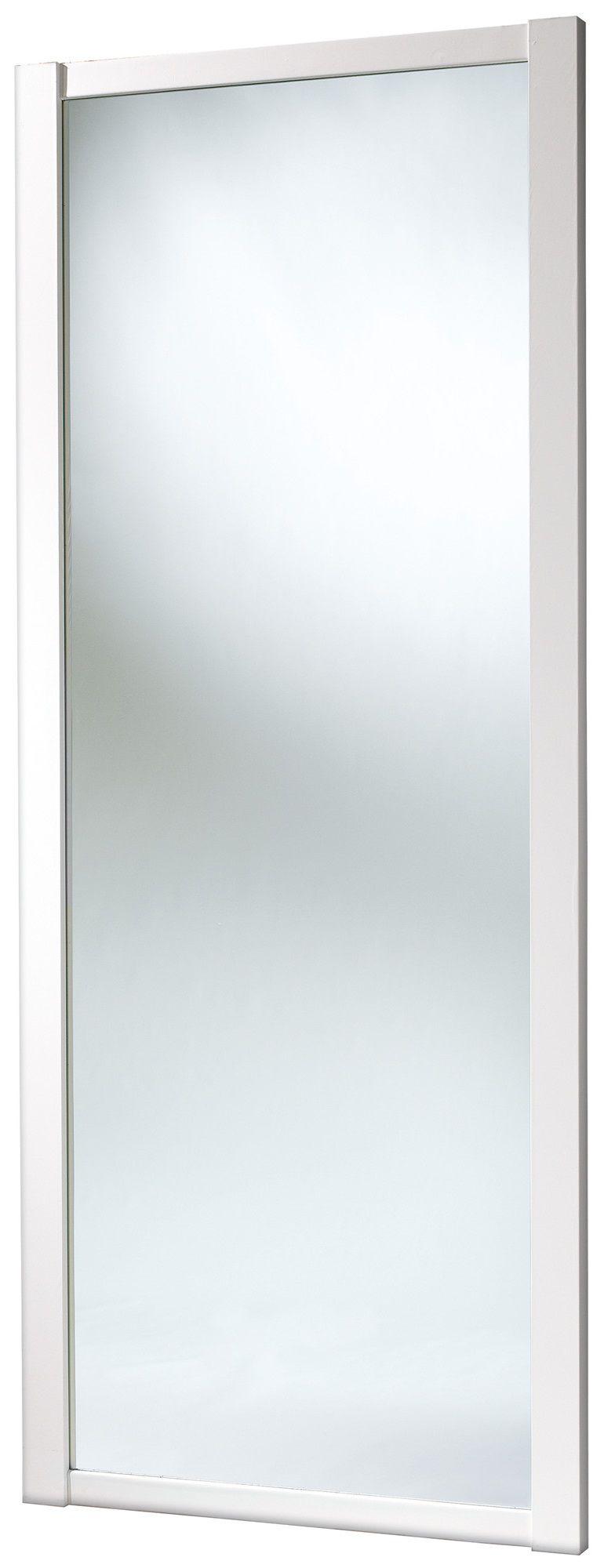 Shaker Full Length Mirror White Sliding Wardrobe Door (h)2220 Mm (w)762mm