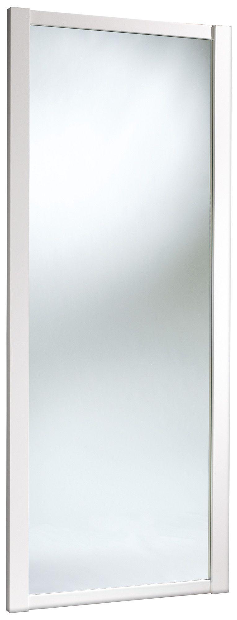 Shaker Full Length Mirror White Mirror Effect Sliding Wardrobe Door (h)2220 Mm (w)914 Mm