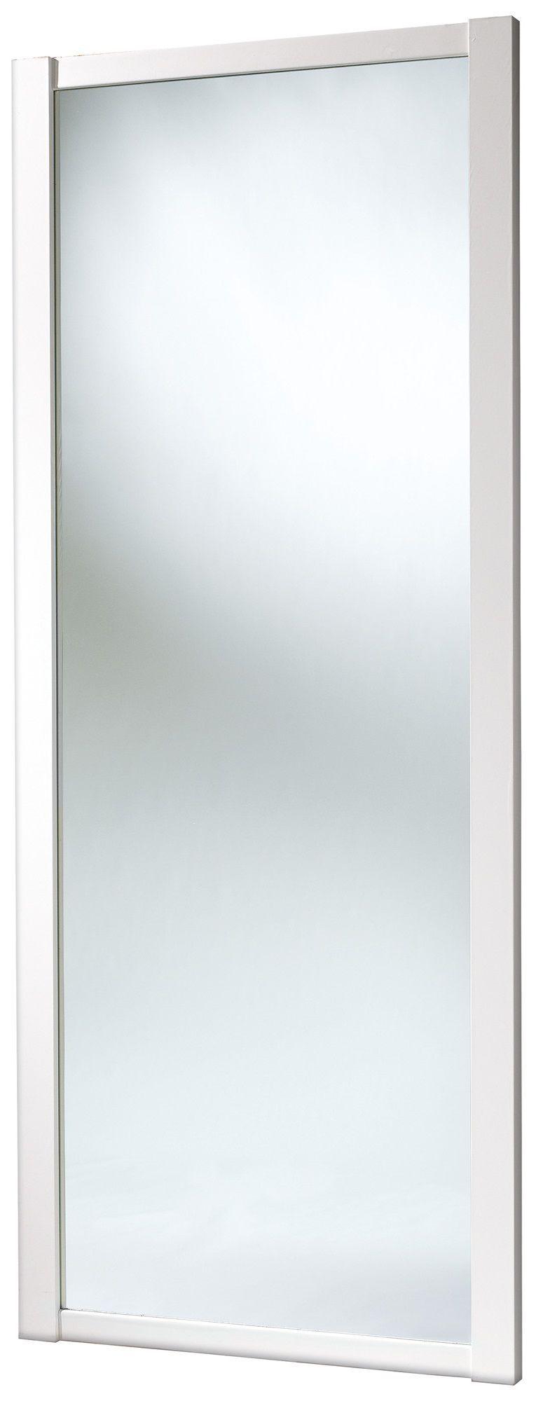 Shaker Full Length Mirror White Sliding Wardrobe Door (h)2220 Mm (w)914mm