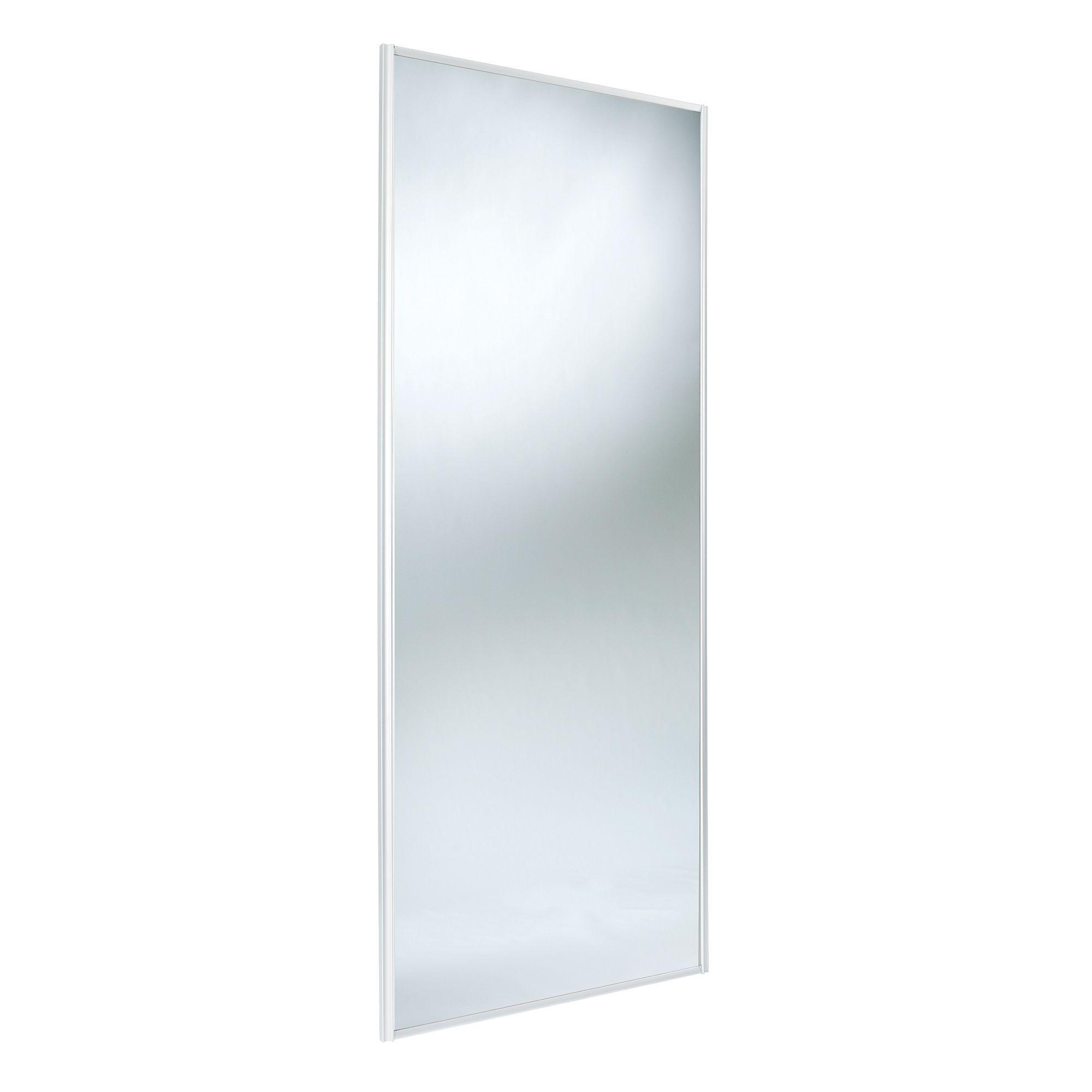 Classic Full Length Mirror White Mirror Effect Sliding Wardrobe Door (h)2220 Mm (w)762 Mm