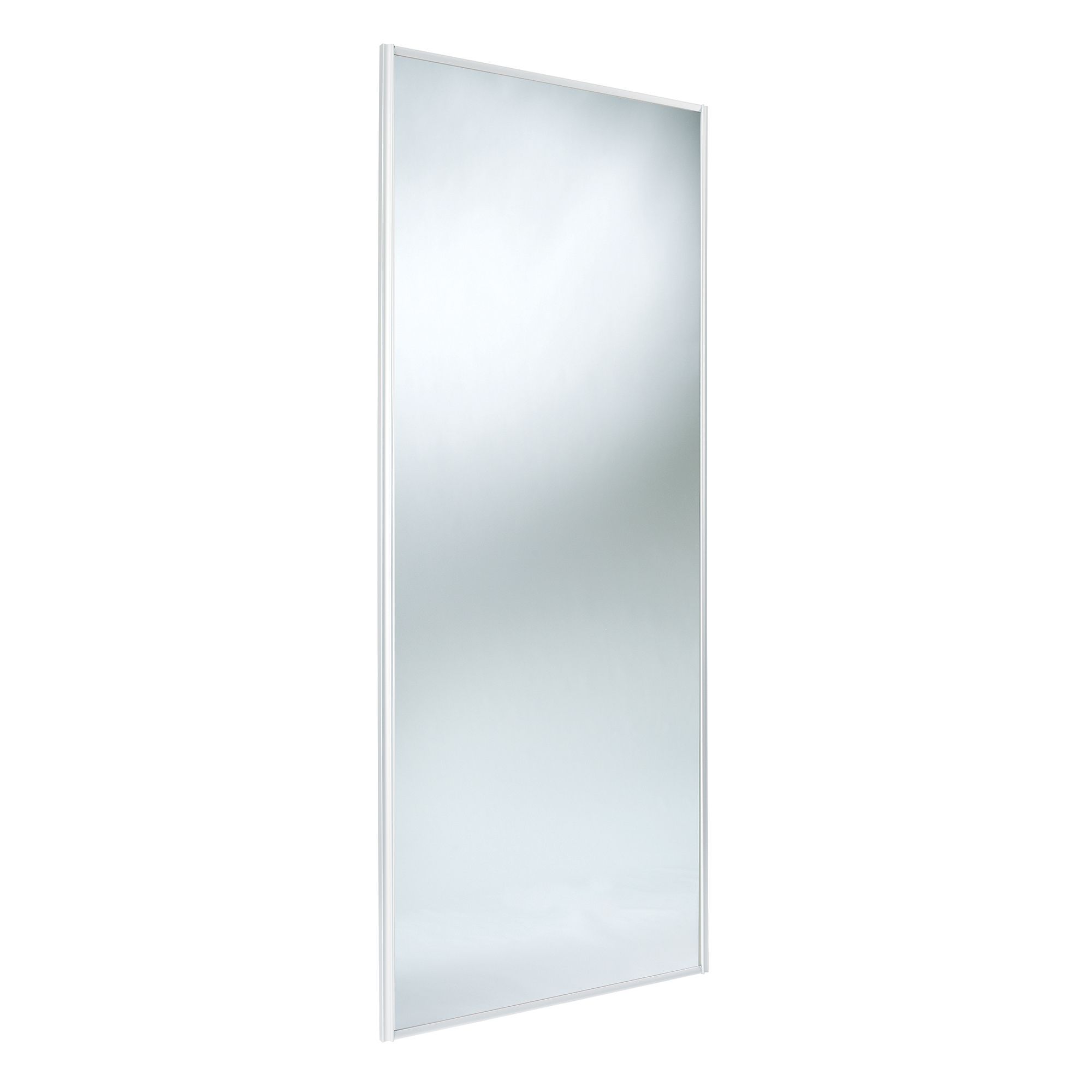 Classic Full Length Mirror White Mirror Effect Sliding Wardrobe Door (h)2220 Mm (w)914 Mm