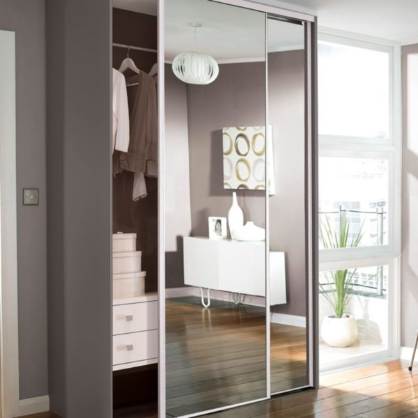 Sliding wardrobe doors kits bedroom furniture diy at b q for Sliding mirror doors