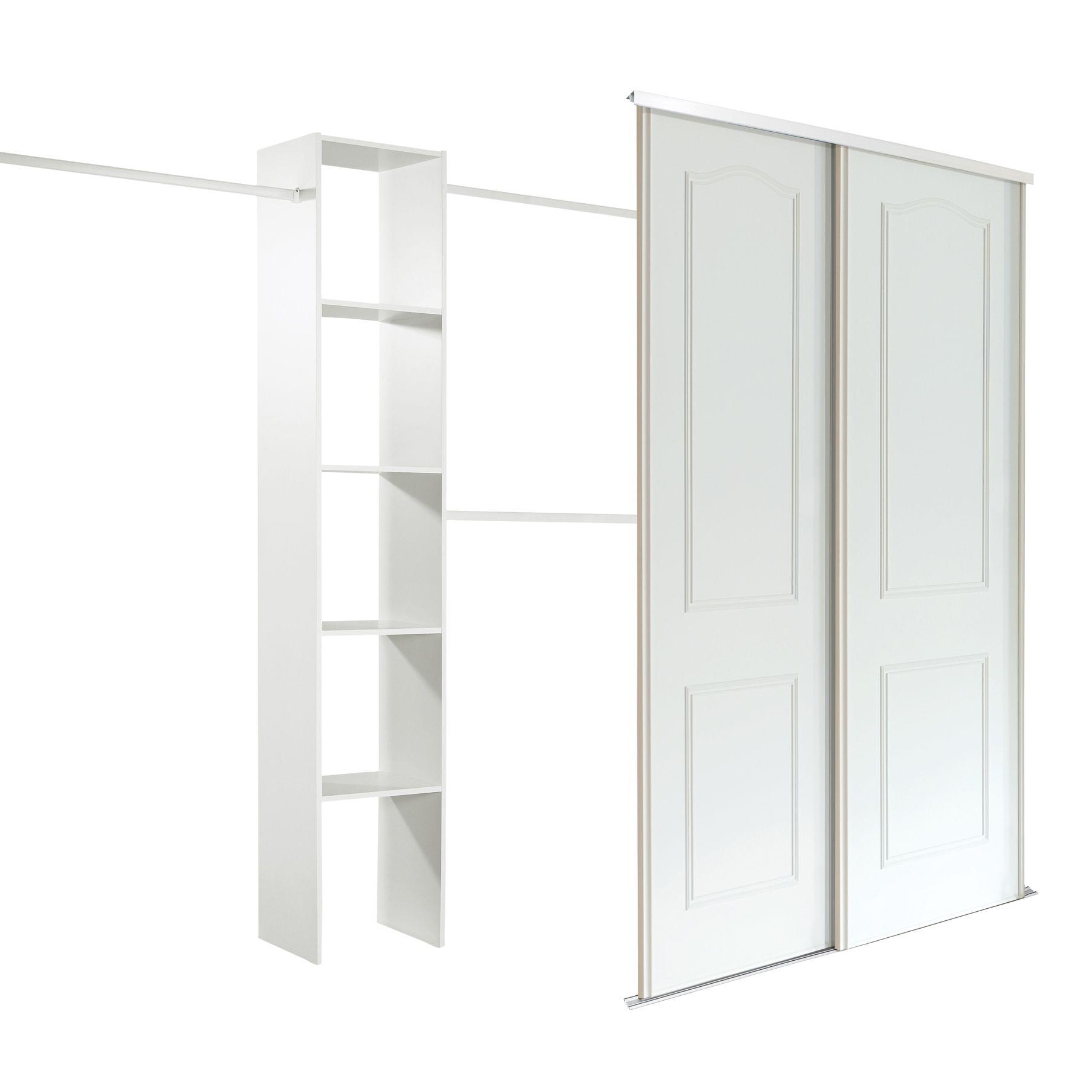 Classic White Sliding Wardrobe Door Kit (H)2220 mm (W)762 ...