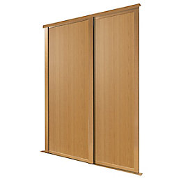 Natural Oak Effect Sliding Wardrobe Door (H)2223 mm
