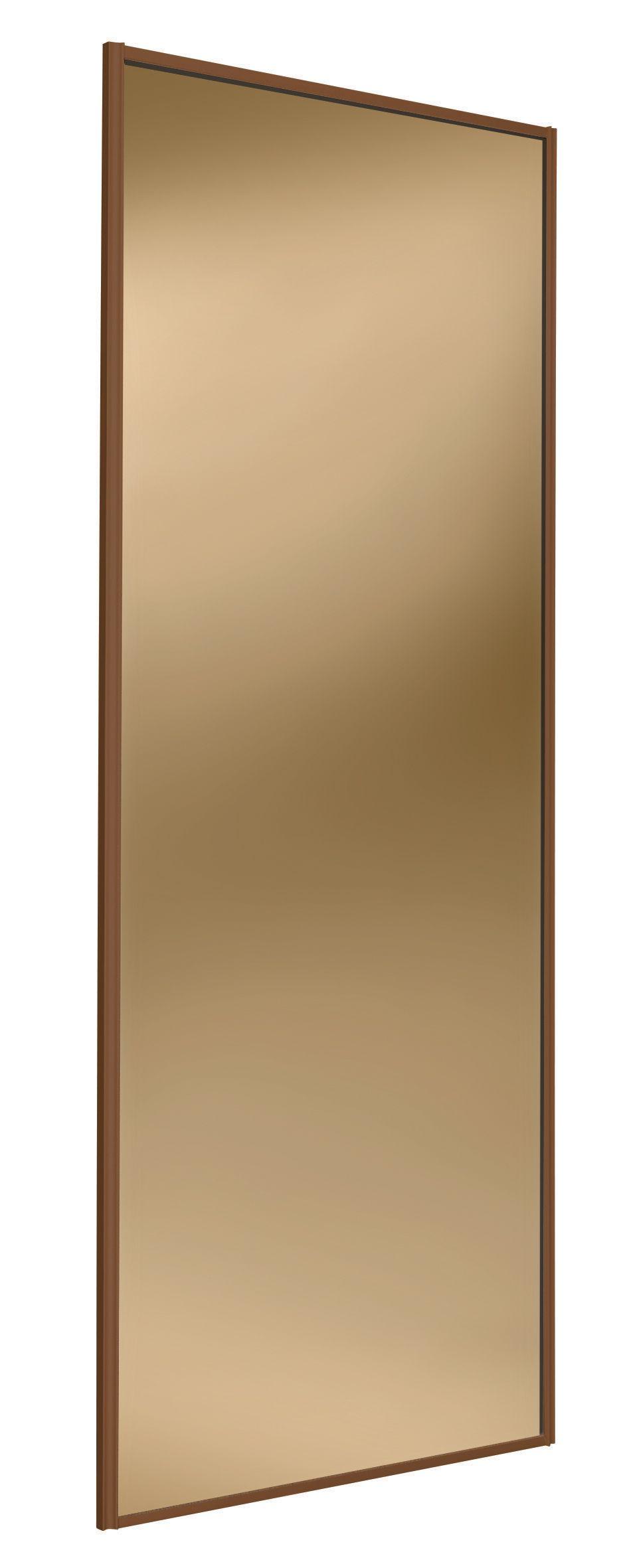 Full Length Mirror Bronze Sliding Wardrobe Door H 2220 Mm