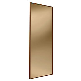 Full Length Mirror Bronze Sliding Wardrobe Door (H)2220