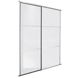 Premium Select White Sliding Wardrobe Door Kit (H)2200