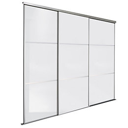 Premium Select White Sliding Wardrobe Door Kit (H)2.22