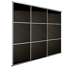 Premium Select Black Glass Effect Sliding Wardrobe Door