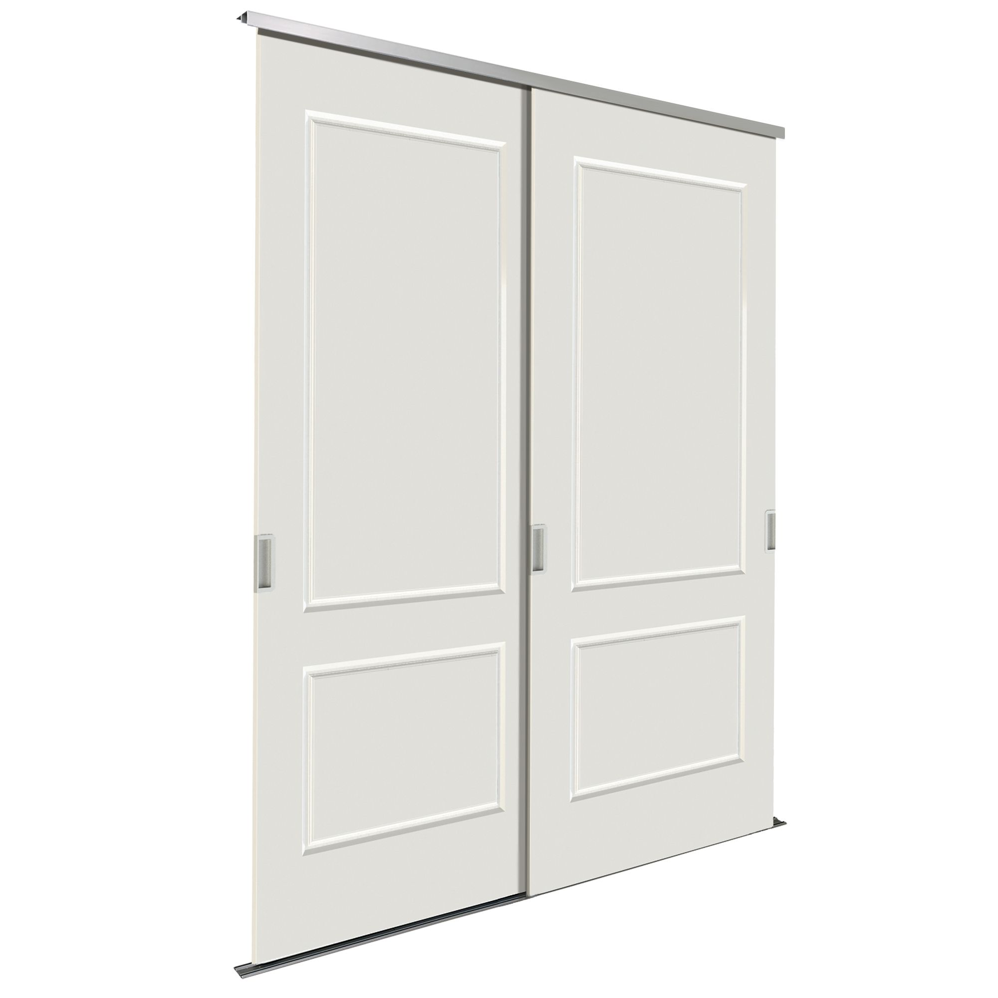 paintable white sliding wardrobe door kit h 2200 mm w. Black Bedroom Furniture Sets. Home Design Ideas
