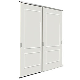Paintable White Sliding Wardrobe Door Kit (H)2200 mm