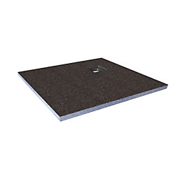Aquadry Corner Drain Shower Tray (L)900mm (W)900mm