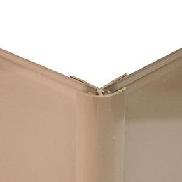 Vistelle Mocha Shower Panelling External Corner (L)2.5m (W)25mm