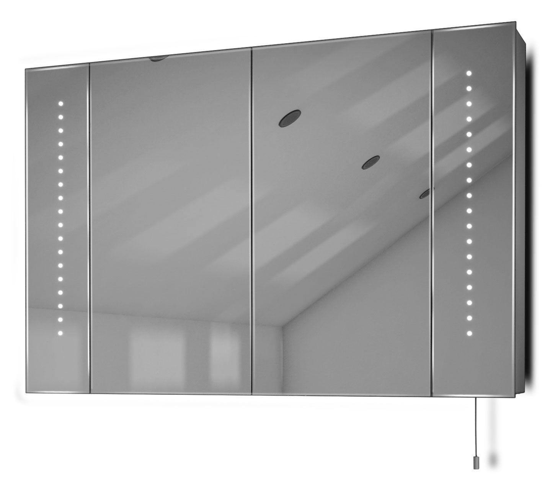 Diamond X Bathroom Cabinets - Diamond x collection hatha illuminated bathroom rectangular mirror cabinet w 900mm h