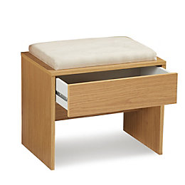 Kendal Oak Effect Stool with 1 Drawer (H)470mm