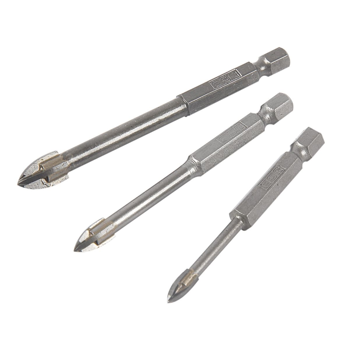 Jcb Glass & Tile Drill Bit (dia)5/6/8mm (l)65/75/85mm
