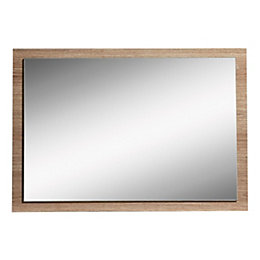 Vermont Oak Effect Framed Rectangular Mirror (W) 670mm