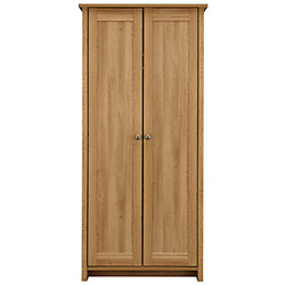 Manor Oak Effect 2 Door Wardrobe (H)1932 mm