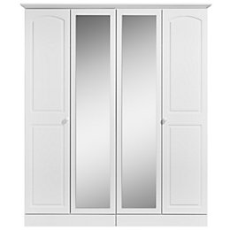Greenwich White Mirror Wardrobe