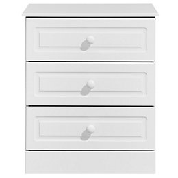 Greenwich White 3 Drawer Chest (H)750mm (W)630mm
