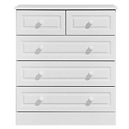 Greenwich White 5 Drawer Chest (H)950mm (W)830mm (D)450mm