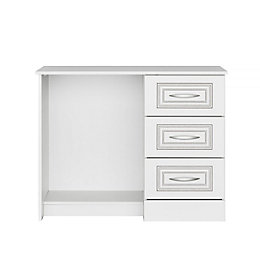 Laysan White 3 Drawer Dressing Table (H)74 cm