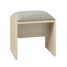 Tamzin Elm & White Dressing Table Stool (H)450mm