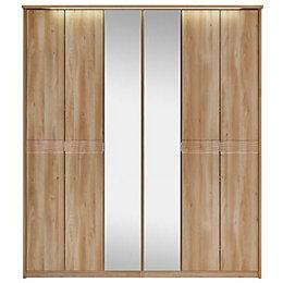 Noah Oak Mirror Wardrobe
