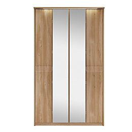 Noah Oak 4 Door Mirror Wardrobe (H)2120 mm
