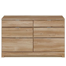 Noah Brown 6 Drawer Chest (H)740mm (W)1200mm
