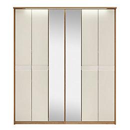 Noah Oak & Mussel Mirror Wardrobe