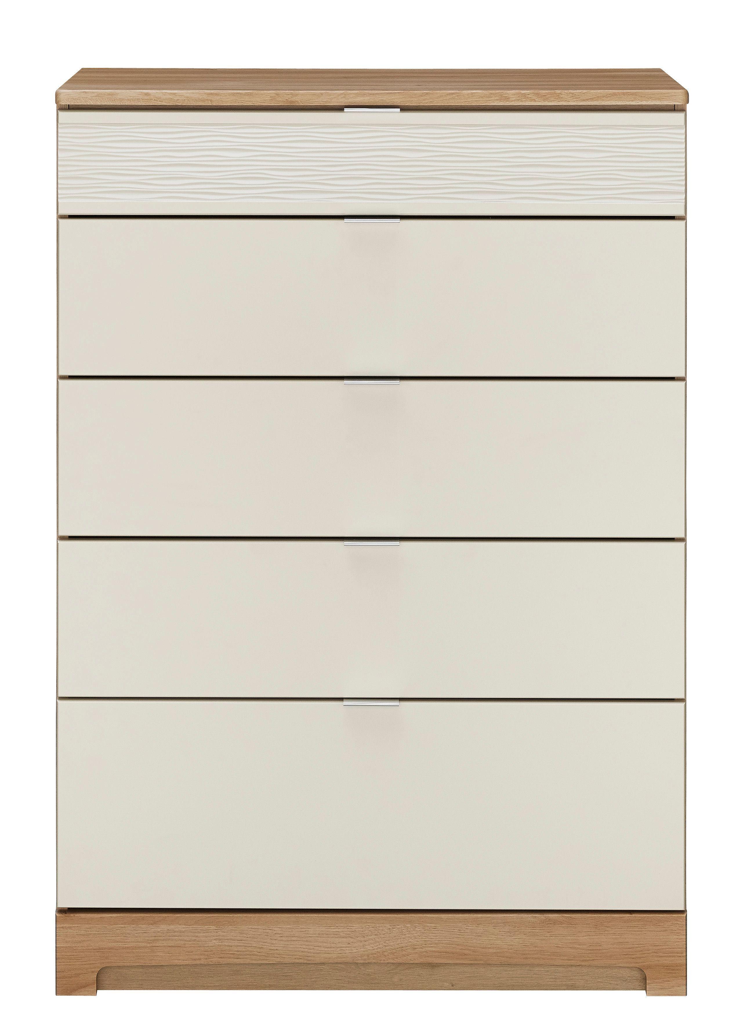 Noah Mussel & Oak Effect 5 Drawer Chest (h)1140mm (w)800mm (d)450mm