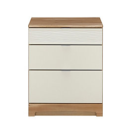 Noah Mussel & Oak Effect 3 Drawer Chest